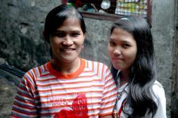 Sherlyn en haar mama
