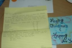 Sherlyn's brief met schoolresultaten